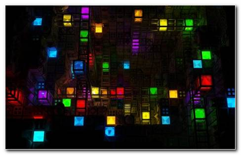 Abstract Light Cube