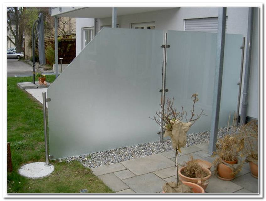 Abtrennung Terrasse Glas