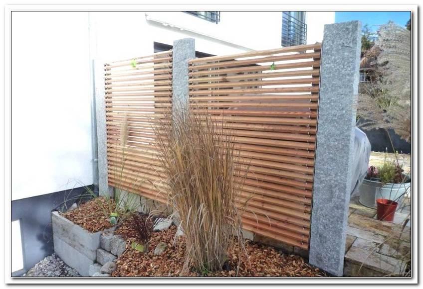 Abtrennung Terrasse Holz