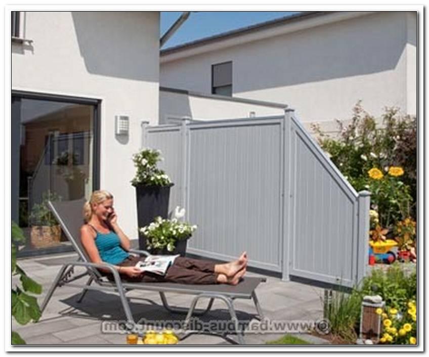 Abtrennung Terrasse Kunststoff