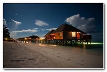 Amazing Night Beach Landscape Wallpaper 1229x768 340x220