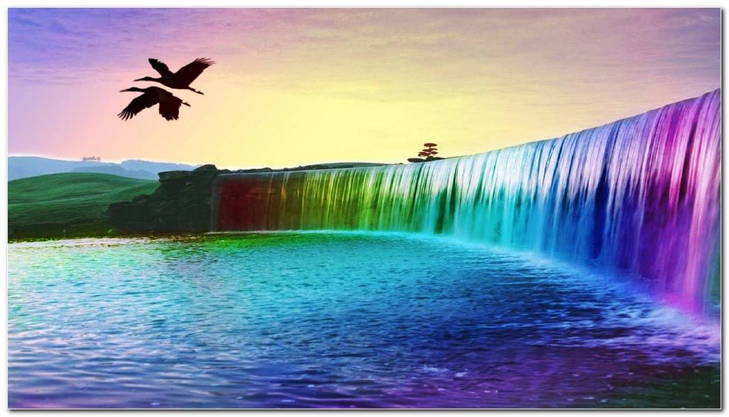 Amazing Waterfall Background Wallpaper Picture