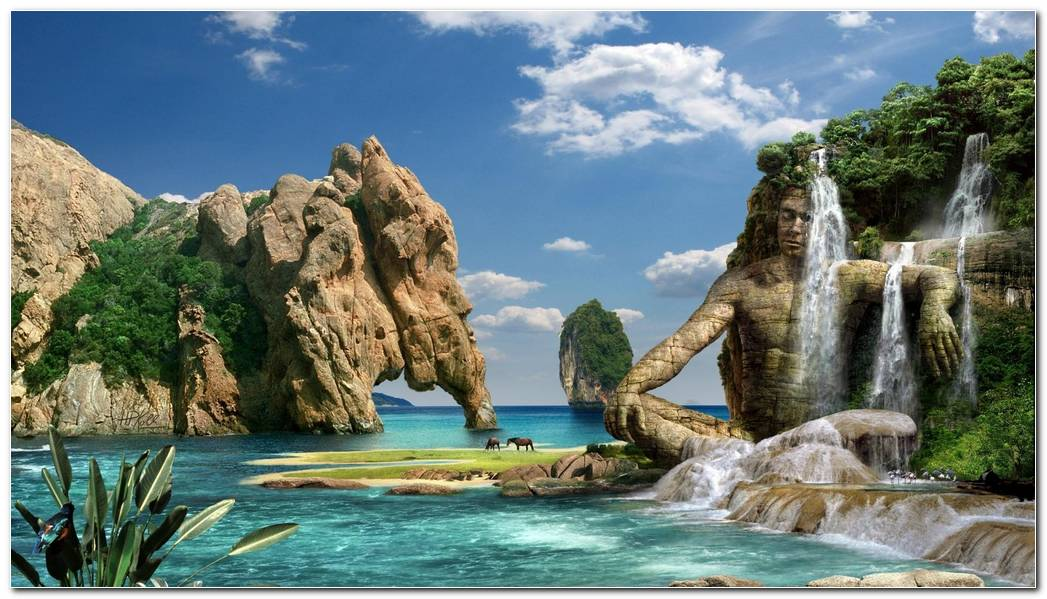 Amazing Waterfall Background Wallpaper