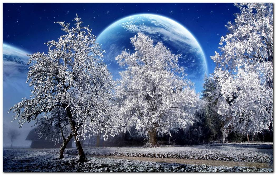 Amazing Winter Snow Nature Desktop Wallpaper Background