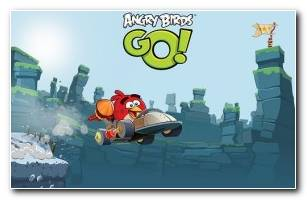 Angry Bird Go WideScreen HD Wallpaper