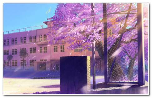 Anime School Architecture HD Wallpaper