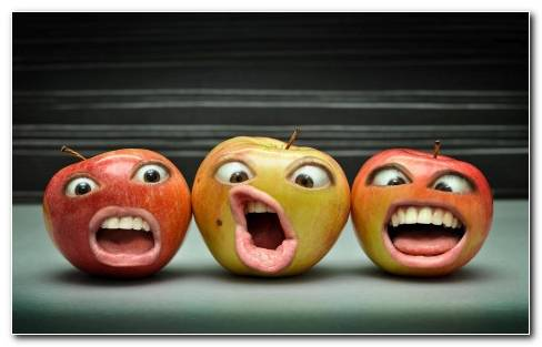 Apple Funny Face HD Wallpaper
