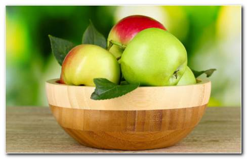 Apples In Bowls HD Wallpaper