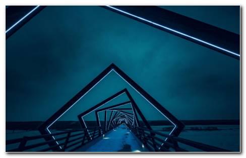 Architecture In Night HD Wallpaper