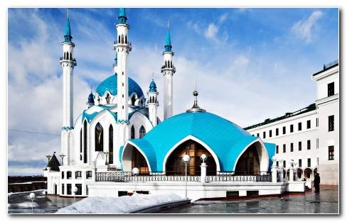 Architecture Russia Mosque HD Wallpaper