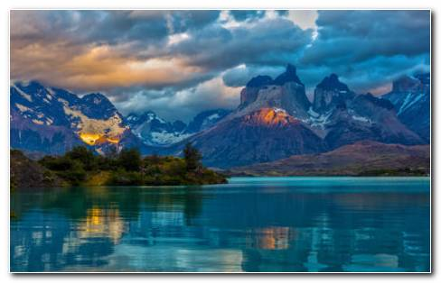 Argentina Mountain Lake HD Wallpaper