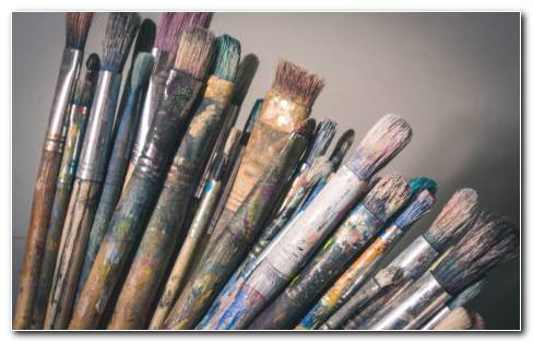 Artistic Paint Brushes HD Wallpaper