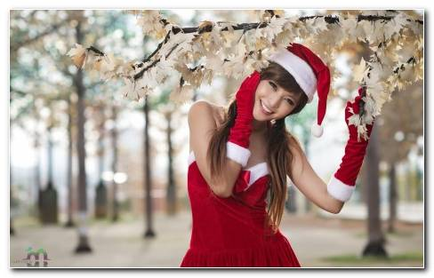 Asian Santa Girl