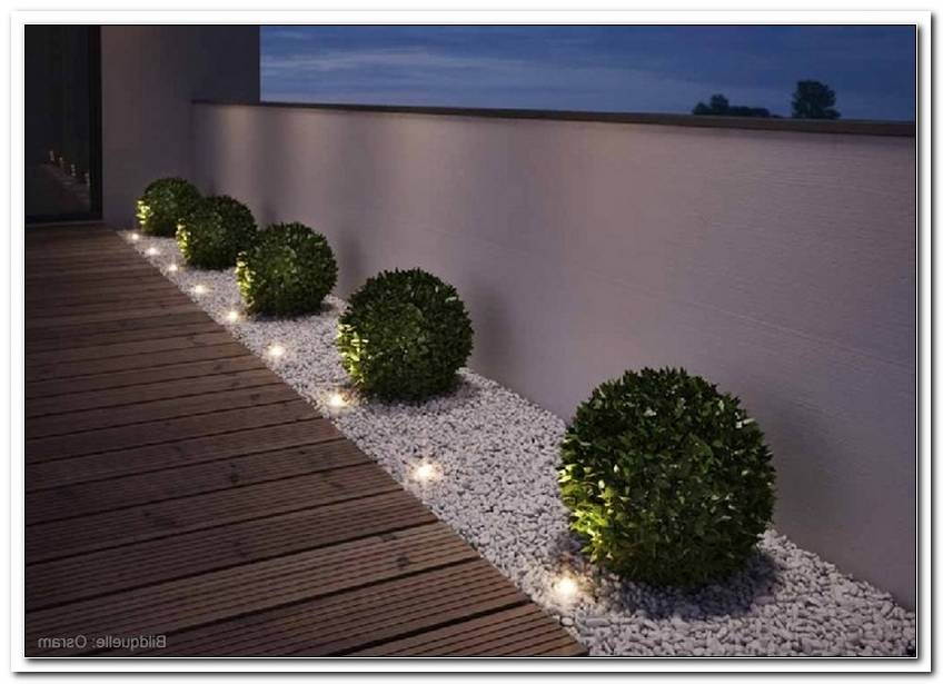 Au?Enbeleuchtung Garten Boden