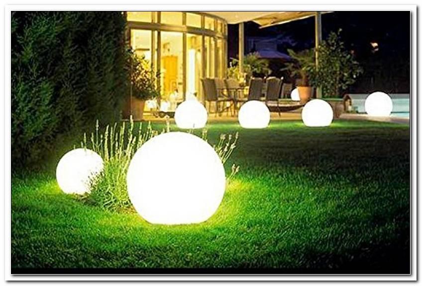 Au?Enbeleuchtung Garten Kugel