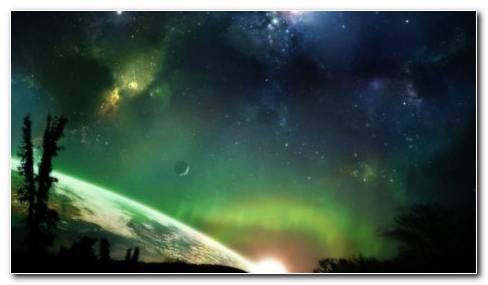 Aurora On Sky HD Wallpaper