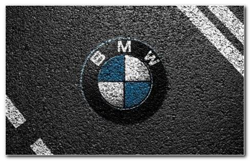BMW Logo On Road HD Wallpaper