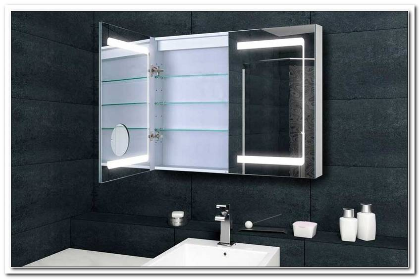 Bad Spiegelschrank Mit Beleuchtung 70 Cm Breit