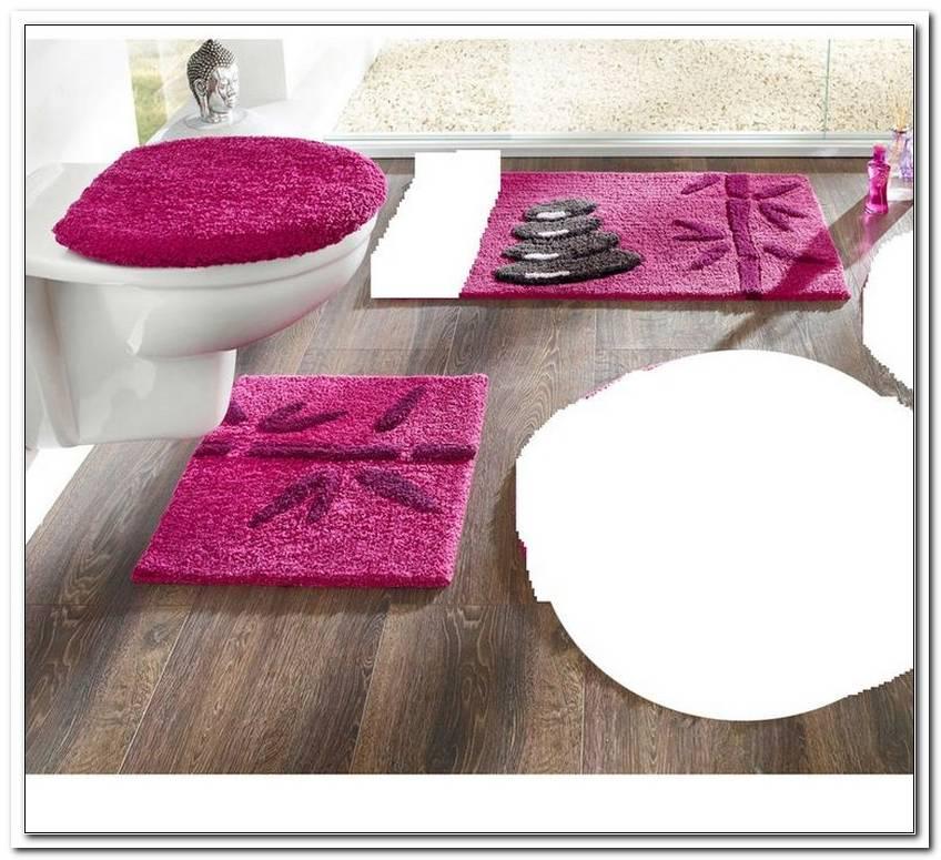 Badezimmer Garnitur 3 Teilig Rosa