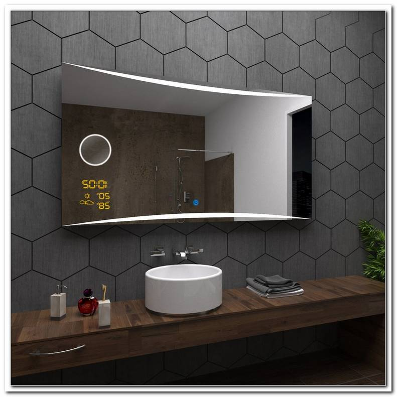 Badspiegel Mit Beleuchtung Und Uhr