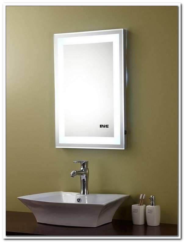 Badspiegel Mit Steckdose Und Beleuchtung