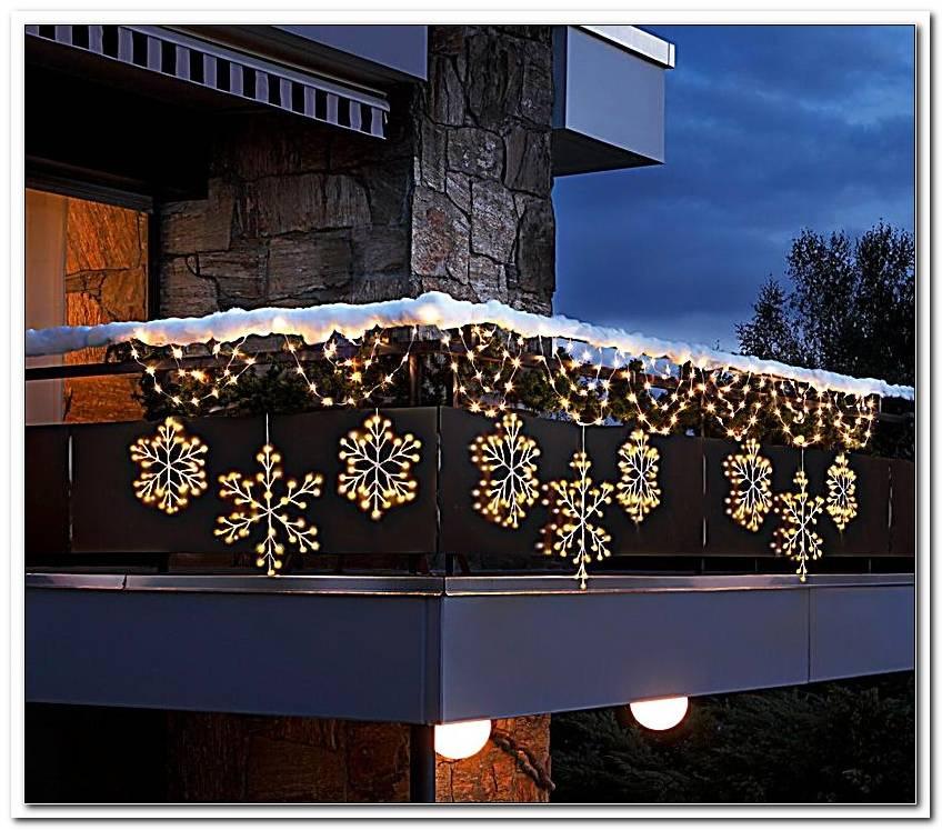 Balkon Beleuchtung Weihnachten Bogen