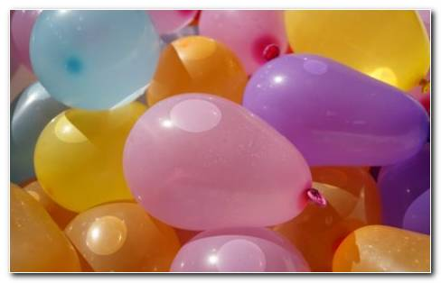 Balloons For Birthday HD Wallpaper