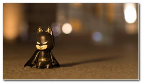 Batman Toy On Surface HD Wallpaper