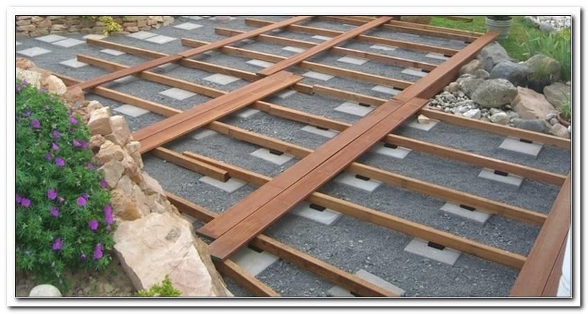 Bau Einer Terrasse Aus Holz