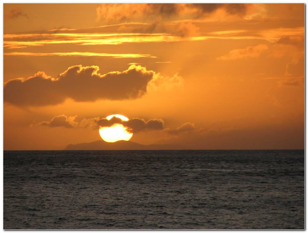 Beach Sunrise And Sunset Nature Wallpaper Background