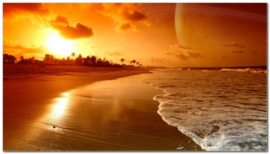 Beach Widescreen Sunrise And Sunset Nature Wallpaper Background