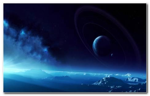 Beautiful Blue Space HD Wallpaper