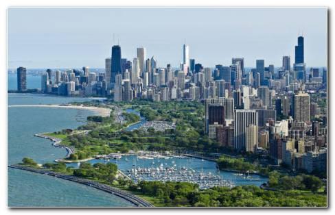 Beautiful Chicago Skyscrapers HD Wallpaper