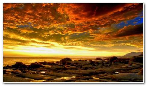 Beautiful Fiery Sky HD Wallpaper