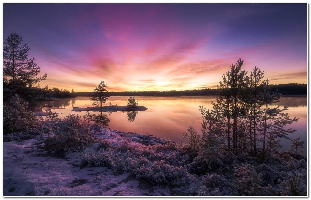 Beautiful Image Sunset Nature Wallpaper Background