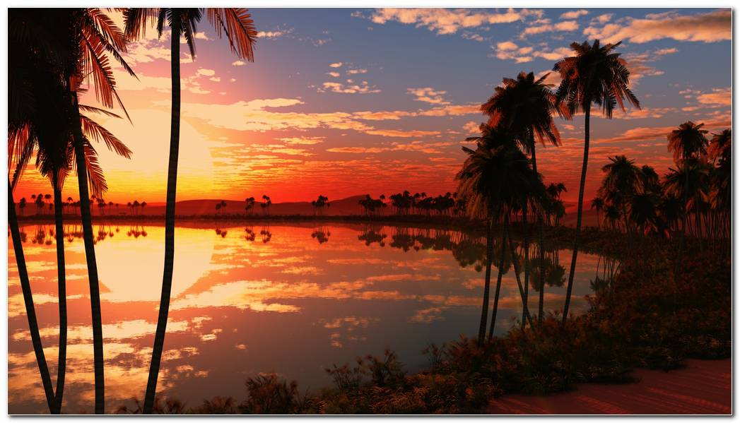 Beautiful Lake Sunset Wallpaper