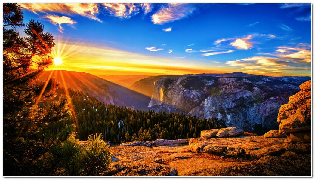 Beautiful Sunrise Desktop Nature Mountain Wallpaper Background