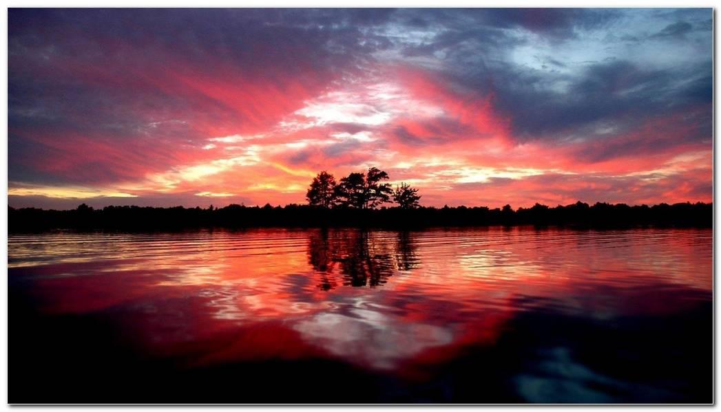Beautiful Wild Sunset Nature Land Wallpaper