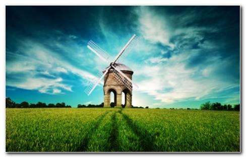 Beautiful Windmill HD wallpaper