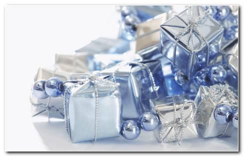 Beautiful Blue Gifts HD Wallpaper