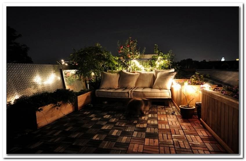 Beleuchtung Balkon Ideen