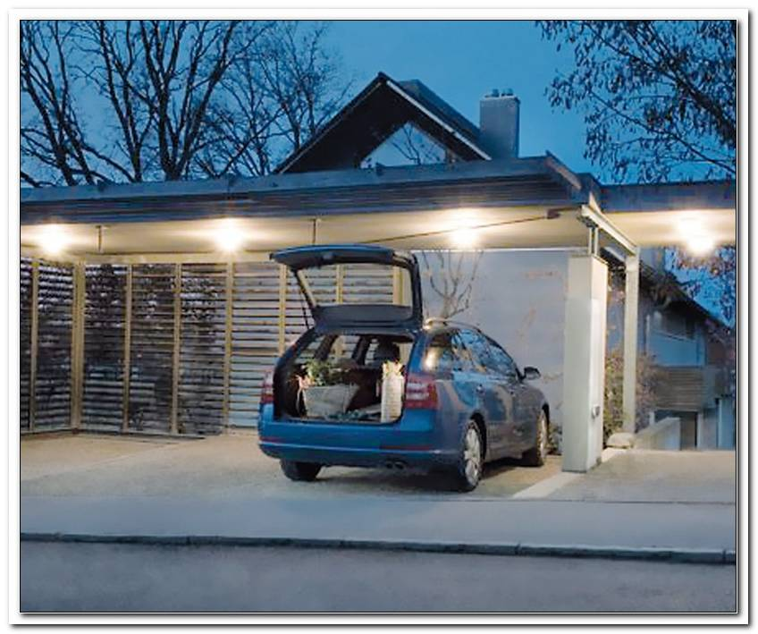 Beleuchtung Carport Led