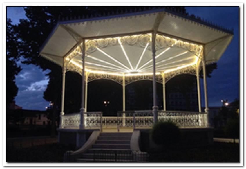 Beleuchtung Garten Pavillon