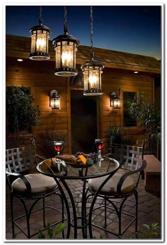 Beleuchtung Terrasse Tisch