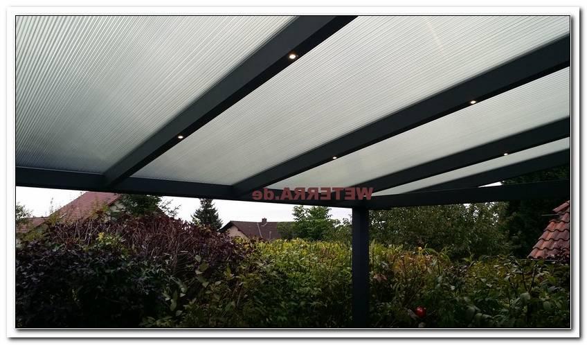 Beleuchtung Terrassen?Berdachung Led