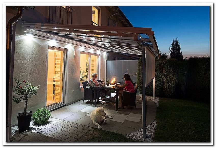 Beleuchtung Terrassen?Berdachung