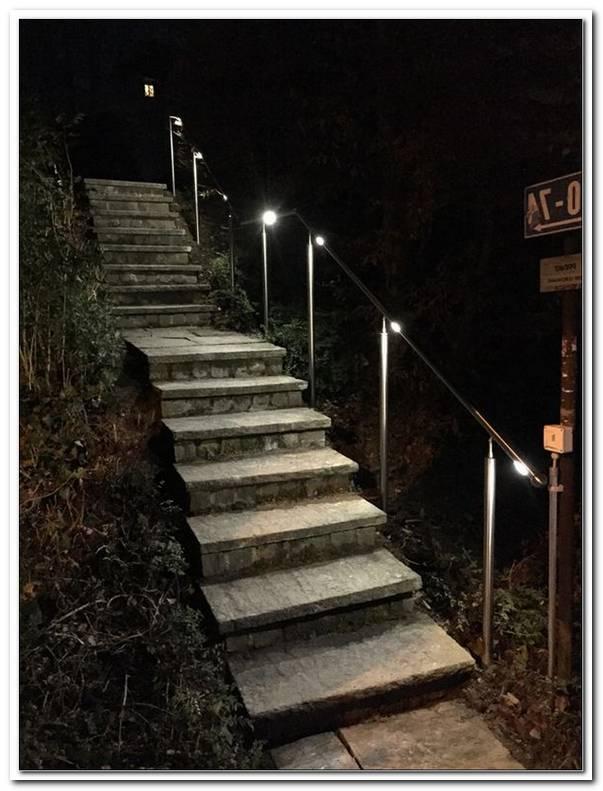 Beleuchtung Treppenaufgang Aussen
