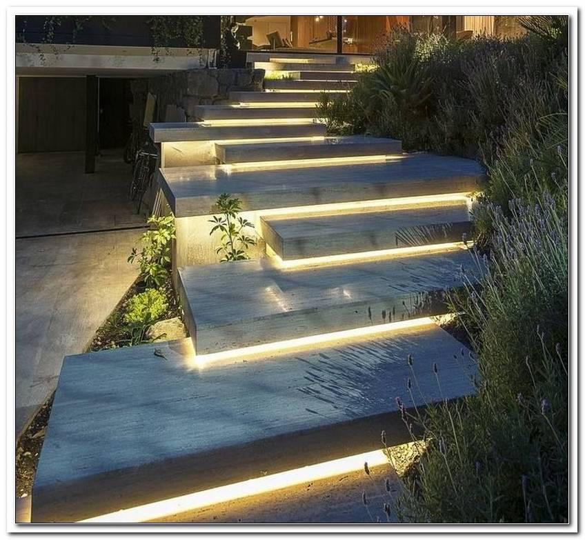 Beleuchtung Treppenstufen Aussen