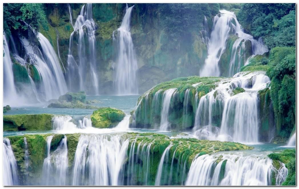 Best Waterfall Background Wallpaper Image Desktop