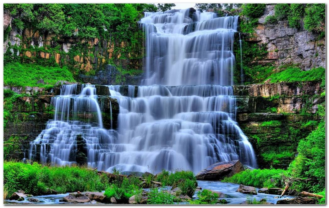 Best Waterfall Background Wallpaper Picture
